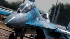 Follow the leader (Steve Cooke-SRAviation) Tags: 2018 canonstevecooke airplane aeroplane flanker warplanes airshow riat sraviation redarrows jet su27 mig fairford display f16 2015 vulcan