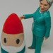 Hillary figure and gnome