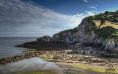 combe martin north devon uk (kapper22) Tags: combe martin north devon england blue green sunny outdoors beach sand pebbles cliff summer