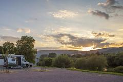 sunset in Main valley (crazyhorse_mk) Tags: freudenberg main unterfranken germany landscape nature valley campersite camper mercedesbenz sprinter sprinter4x4 hymer hymercar forest mountain sky sunset sun clouds river
