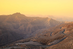The Goldan Hour (ZaIGHaM-IslaM) Tags: uae rasulkhama mountian golden goldenhour mountains road hiroad mountainroad beauty perfection system simple life
