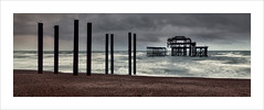 West Pier (Nigel Morton) Tags: brighton westpier pier derelict broken sea englishchannel sussex beach seaside afternoon weather storm wind landscape seascape pano panoramic