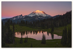 "Rainier glow (Joalhi ""Around the World"") Tags: rainier mountain glow sunrise lake tipsoo washington mtrainiernationalpark"