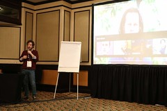 Daniel Bogre Udell speaking about Wikitongues at Wikimania 2018, Cape Town (O Foundation (OFDN)) Tags: wikimania 2018 wikimania2018 wikimedia wikipedia capetown africa southafrica ofdn
