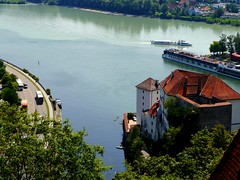 Ilz - Donau - Inn: Zusammenfluss / Junction (rudi_valtiner) Tags: ilz donau inn fluss river mündung zusammenfluss passau bayern bavaria deutschland germany sommer summer wasser water junction mouth ie