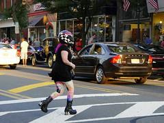 Those Pesky Helmet Laws (Al Perrette) Tags: harley davidson bernie sanders yogapants