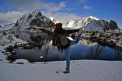 Reine (Elena M. Zuma) Tags: norway northernnorway lofotenislands norge reine snow mountains sea portrait clouds sunny winter