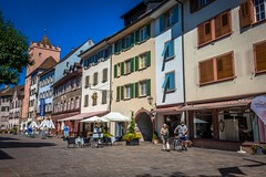 A small little Swiss town along the ev6 with nice cafes and stores.