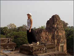Angkor, Pre Rup Temple Pose 20180203_093247 DSCN2578 (CanadaGood) Tags: asia seasia asean cambodia siemreap angkor prerup temple building architecture archaeology people person tree canadagood 2018 thisdecade color colour hindu khmer
