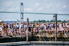 Newport Folk Festival 2018 - Beer Garden (Joshua Mellin) Tags: newport newportfolkfestival newportfolkfest newportfolk rhodeisland america folk folkyeah rock concert music festival annual travel tour spotify jobs best photos joshuamellin editor picture pictures concertphotography musicphotography iconic history 2018 summer fest season tickets merch lineup schedule dates information journalist blogger photographer photography photo pic pics folkmusic indiemusic indie guitar slow acoustic legend bird logo case eastcoast east bridge bridges suspension claibornepellnewportbridge claibornepell newportbridge crowd beer beers water dock docks audience fans port hanging beergarden