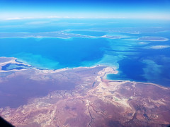 Indian Ocean (Paul Threlfall) Tags: fokker100 throughawindow planewindow plane flying wa westernaustralia sea ocean sky indianocean