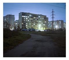 OCT.2016 (urban.photo.lv) Tags: long exposure latvia ziepniekkalns riga soviet architecture suburbs urban night film analog mamiya rb67 pro s 90mm