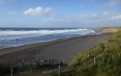 fanore beach (annabunin) Tags: ireland fanore clare atlantic coast beach dunes fence fencedfriday sky ocean fatherted