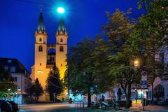 St. Michaelis at Blue Hour - Hof, Upper Franconia (dejott1708) Tags: hof saale blue hour architecture church sankt michaelis kirche oberfranken upper franconia germany deutschland night shot long exposure