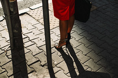 Stiletto (ewitsoe) Tags: canoneos6dii ewitsoe polska street warszawa erikwitsoe poland summer urban warsaw shoes woman stiletto heels lady business class morning towork dressedup fashion redskirt briefcase shadows feminine beautiful sexy comfort uncomfortable dressedtokill ladylike shades shadow dress hip elegant elegance