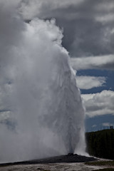 Geyser Power (dleany) Tags: 2470mmf28l 5dmkii geyser yellowstone clouds