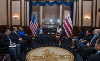 July 19, 2018 MMB meets with Mayor Ernest Muyshondt of El Salvador