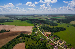 Silichy (free3yourmind) Tags: silichy belarus aerial xiaomi mi drone quadcopter clouds cloudy land field village