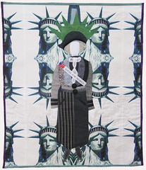 Suffragette (enovember) Tags: suffragette liberty lady votes statueofliberty votesforwomen fiberart artquilt quilting equalrights