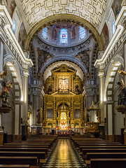 Nave of Church of the Saints Justo and Pastor (Parroquia de los Santos Justo y Pastor) in Granada (ctj71081) Tags: apse church granada iglesiadesantosjustoypastor nave spain