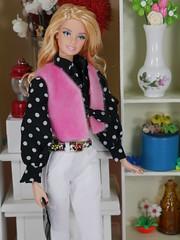 Barbie hippie pink and black (modcasey) Tags: barbie hippie dolls for photo challenge divas theme