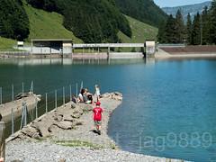 MUO130 EBS Sahliboden Compensating Reservoir on the Muota River, Bisisthal, Canton of Schwyz, Switzerland (jag9889) Tags: 2018 20180718 bach bisistal bisisthal bridge bridges bruecke brücke ch cantonschwyz cantonofschwyz centralswitzerland crossing ebs elektrizitätswerkdesbezirksschwyz europe fluss gkz740 helvetia infrastructure innerschweiz kantonschwyz lake landscape muota muotakraftwerk muotatal muotathal outdoor people pont ponte powerplant puente punt reservoir reusstributary river ronaldo sz schweiz schwyz see span structure suisse suiza suizra svizzera swiss switzerland tshirt wasser water waterway zentralschweiz jag9889