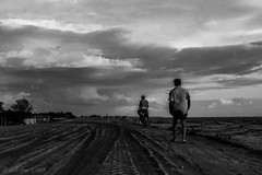 Untitled (Galib Emon) Tags: landscape blackandwhite clouds cloudy sky man bicycle lifescape travel street bangladesh monochrome chittagong canon flickr explore dramatic bw streetphotography patenga galibemon canoneos7d outdoor