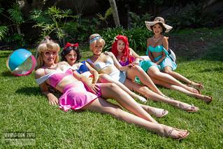 Comic-Con 2018 Disney Princesses Sunbathing by Royal Entertainers