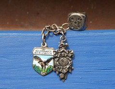 Bettelarmband (captain_joe) Tags: macromondays trinket schmuck armband souvenir silber silver