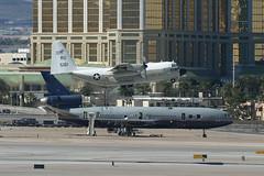 16-5161 & N1855U, Las Vegas McCarran, February 28th 2004 (Southsea_Matt) Tags: 165161 ru5161 unitedstatesnavy usn lockheed c130t hercules n1855u unitedairlines staralliance mcdonnelldouglas dc10 unitedstatesofamerica usa las klas lasvegas mccarran nevada canon 10d february 2004 winter aviation aircaft airport transport