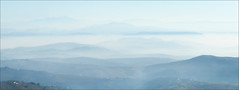 Fading to Blue (kate willmer) Tags: mist mountains valleys blue aerial regression morning andalucia spain