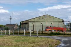 RAF hangar (d0mokun) Tags: southgate wales unitedkingdom gb swansea airport egfh airfield old raf hangar fire truck