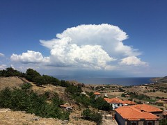 Interesting cloud above Lesvos, Greece (MargrietPurmerend) Tags: molyvoscastle molyvos lesvos greece aegeansea cloud