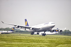 D-AIFC | Lufthansa | Airbus A340-313 | CN 379 | Built 2000 | DUB/EIDW 27/05/2018 (Mick Planespotter) Tags: aircraft airport dublinairport collinstown 2018 sharpenerpro3 nik daifc lufthansa airbus a340313 379 2000 dub eidw 27052018 a340 flight