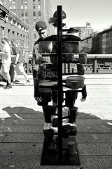 The Dig of No Body. High Line Art. (sjnnyny) Tags: highline abovew23street outdoorsculpture nikond7500 afs1635f40edvr nyc chelsea manhattanstreetphotogrpahy people pathway nycapartmentbuildings mariechendanzthedigofnobodysoilsampleadd highlineart stevenj sjnnyny