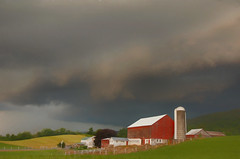 *** (artvbal) Tags: landscape rural amish farm barn pennsylvania usa agriculture storm sky clouds artwork photoart july 2018 topazimpression belleville