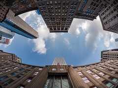 Empire State Building (rickmcnelly) Tags: city empirestate rokinon 7535 gx8 fisheye nyc rokinon7535