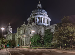 Tranquil St. Pauls Cathedral in the small hours (EricMakPhotography) Tags: cathedral church sonya7r london night stpaul hdr cityscape light
