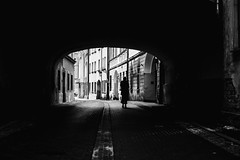 The road well traveled 340 365 (ewitsoe) Tags: canoneos6dii city street warszawa erikwitsoe poland summer urban warsaw monochrome bnw blackandwhite silhouette tunnel vibes atmosphere