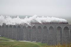 LMS Jubilee Class 45699 and 47245 on the Ribblehead Viaduct (Tom 43299) Tags: galatea 45699 train ribblehead ribbleheadviaduct lmsjubileeclass lms jubileeclass class47 westcoastrailways railtour