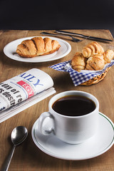 Morning Coffee [1/4] (Mahmoud Lashin) Tags: food commercial alexandria egypt studio indoor colours colourful sweet dessert breakfast fork plate coffee drink