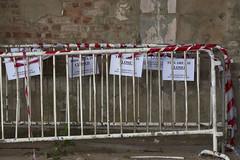Day 81 (Esme on Plum Island) Tags: skegness skeg sign mess skeggy lincolnshire closed warning barriers