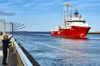 Fugro Scout - Aberdeen Harbour Scotland - 17/4/2018
