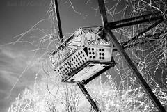 Abandoned (jmhutnik) Tags: abandoned seat ferriswheel lakeshawnee westvirginia infrared overgrown sky clouds
