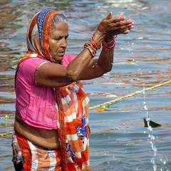 varanasi 2017 (gerben more) Tags: prayer woman varanasi benares river india