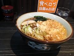 Soba topped with a mix vegetable tempura from Monju @ Asakusa (Fuyuhiko) Tags: soba topped with mix vegetable tempura from monju asakusa 東京 tokyo 天ぷら 天婦羅 てんぷら そば 蕎麦 ソバ かき揚げ 文殊 あs買うさ 浅草 立ち食い 路麺