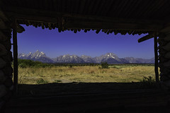 Cabin with a view (jreyt27510) Tags: mountains landscape nature wyoming national park tetons outdoor color