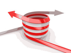 68583411_ml (mghresearchinstitute) Tags: 3d arrow business career chart communication competition concept direction financial forward gain red graphic group growth icon illustration image leader line market motion sign success symbol team teamwork together two up way white winner twisted spiral threedimensionalshape cutout isolated render