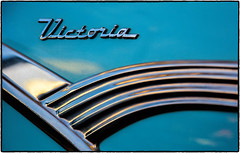 Car Art - 1955 Ford Crown Victoria (drpeterrath) Tags: canon eos5dsr 5dsr car auto classic vintage ford 1955 crown victoria blue turqoise design detail chrome show