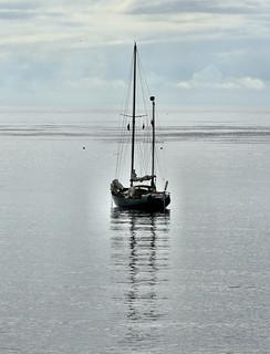 'A boat lies waiting'.